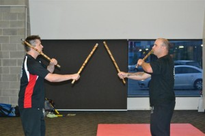 Double stick drills
